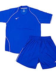 les maillots de football de l'enfant (bleu et bleu)