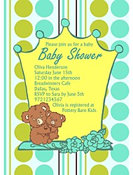 Personalized Koala Baby Shower Cards - Set of 12