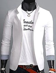Männer Slim Linen Stripes One Button Kontrast Farbe Lässige Anzüge Kleine