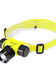 Headlamps / Diving Flashlights/Torch LED 3 Mode 200 Lumens Rechargeable Cree XR-E Q5 18650 Multifunction - Others Aluminum alloy / ABS