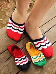 correspondance des couleurs à court chaussettes en coton furtivité des hommes (5 paires / paquet)