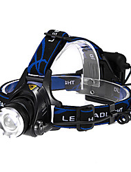Lights Headlamps LED 600 Lumens 3 Mode Cree XM-L T6 AA Adjustable Focus Tactical Multifunction Aluminum alloy ABS