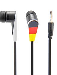 Nacional Padrão Bandeira Headphone In-Ear com microfone