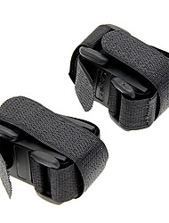 Universal Bicycle Flashlight Lamp Nylon Nylon fastener tape Clip Mount Holder - Black (2 PCS)