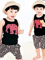 Veau d'éléphant Gilet court Pantalons Boy Suits
