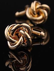 ouro knots cobre cufflink xinclubna® dos homens da moda (ouro) (1pair)