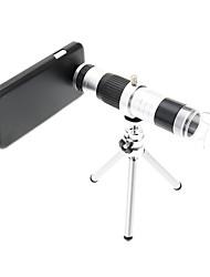 16X Teleobjetivo metal y 220X Microscopio Celular de la lente con el trípode para Samsung S4