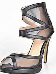 bc sexy Mesh-Frauen Pfennigabsatz Sandalen