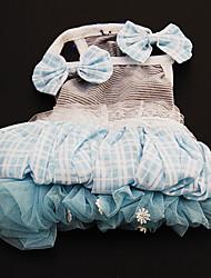 Zomer - Blauw Textiel Binnenwerk - Jurken - voor honden - XS / M / XL / S / L / XXL