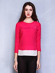 Women's Tops & Blouses , Silk Casual QinPei.er