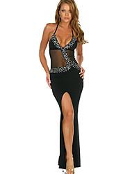 Sexy Siren de festa à noite Bodycon Vestido das Oceano Mulheres Negras