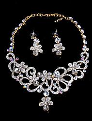 LOTINB Beautiful Luxury Wedding Dress Series Jewelry Set (Screen Color)