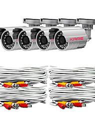 KARE 4 * видеонаблюдения 24 светодиодов Открытый & Крытый SONY CCD безопасности и видеонаблюдения