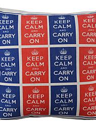 Gardez le calme et continuez coussin décoratif couverture