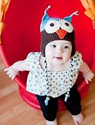 Children's  Owl Style Handmade Knit Crochet Beanie Hat