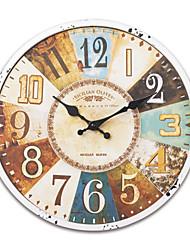 """13.5 """"H Rétro Horloge murale en métal Méditerranée"""