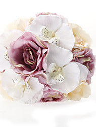 Fleurs de mariage Rond Roses Bouquets Mariage La Fête / soirée Satin Soie Tulle Rose Env.25cm
