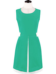 MFL Frauen Abnehmen Solid Color Sleevless Kleid (Screen Color)