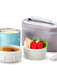 """Stainless Steel Insulation Lunch Box Suit,Inner Plastic outer Steel ,L9""""*W5""""*5"""""""