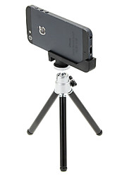 I-12-3-SL Mini Desktop Aluminum Tripod with Single-deck Three Sections & iPhone 5S/5 Tripod Mount Holder