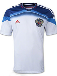 Men's SoccerJersey Short Sleeves White and Blue