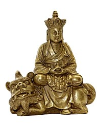 """2 """"h style antique Type de bodhisattva Ksitigarbha cuivre de collection"""