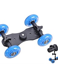 Profissional Tabletop DSLR Camera Dolly Slider Skater Roda do caminhão Estabilizador para 5D2 EOS Vídeo