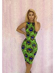 Женская мода Сексуальная Клуб Печать платье