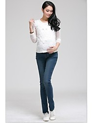 Women's Simple Embroidery Maternity Pants