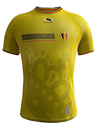 Men's SoccerJersey Short Sleeves Yellow