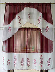 Graceful Country Classic Floral Kitchen Curtain