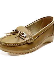 De cuero de las mujeres talón plano Confort Mocasines Zapatos (más colores)