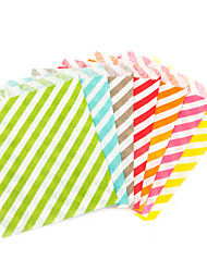 Striped Craft Paper Food Favor Bags (More Colors)-Set of 12