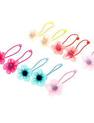 Kinder-Gewebe-Blumen-Haargummis Haarschmuck (zufällige Farbe)