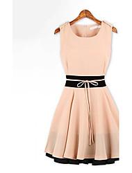 Женская мода Slim Falbala Midi платье
