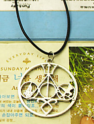 shixin® ethnique (libra) collier en silicone noir pendentif (or, argent) (1 pc)