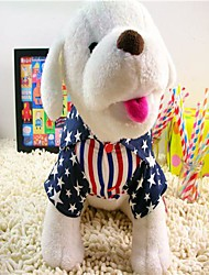 American Style Star & Chemise rayée pour Chiens Animaux
