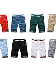 Casual solides Couleur mi-longueur Pantalons debe Men # 1