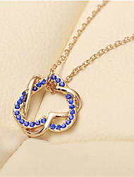 LILAIMEI Women'S Diamond Modern Love Short Necklace