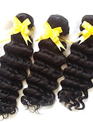 20-Zoll-3pcs / lot Klasse 5a des brasilianischen reinen Haares natürliche Welle Haarverlängerungen / webt