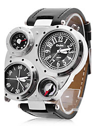 OULM® Men's Watch Military Multifunction Dual Time Zones Compass and Thermometer  Cool Watch Unique Watch