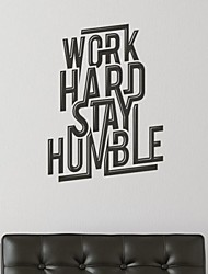 Words & Quotes Work Hard Stay Humble Wall Stickers