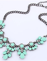 Ablla Fluorescent Color Super Good Texture, Crystal Metal All-Match Summer Short Necklace 115