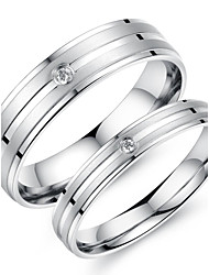 Super Pretty Simple Lovers Love Set Auger Titanium Steel Ring Promis rings for couples