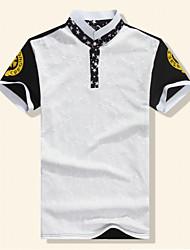 Men's T-Shirts , Cotton/Cotton Blend/Polyester Short Sleeve Casual Fhonier
