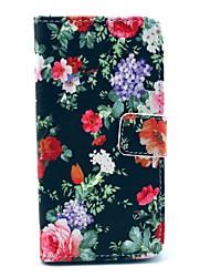 Blace Rose motif de fleurs en cuir PU avec couverture de cas de stand pour Sony Xperia Z1 Compact mini D5503