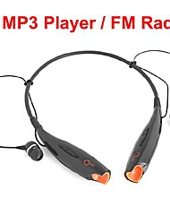 Headphone USB Neckband Sports With TF Slot FM Radio for PC