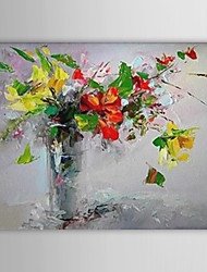 Hand-Painted Floral/Botanical Horizontal One Panel Canvas Oil Painting For Home Decoration