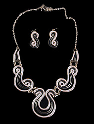 LOTINB Wave Pattern Of High-End Never Fade Jewelry Set(Screen Color)
