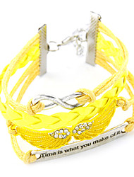Multi Layers Weave Infinity Wings Bracelet(Assorted Color)